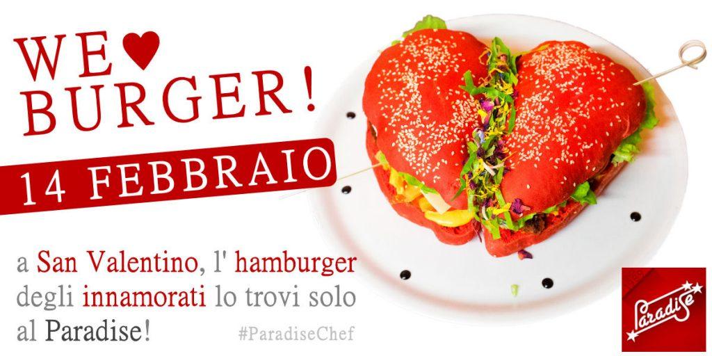 cena san valentino hamburger a forma di cuore